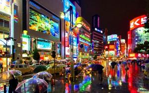 tokyo, night city, lights